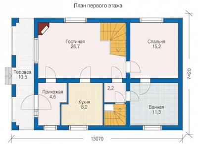 ДОМ ИЗ БРЕВНА БР 1-135