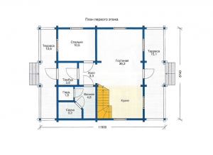 Каркасные дома  БС 1-147