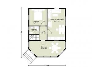 Каркасные дома  ПдС 1-56Ф