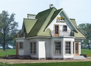 Каркасные дома  КС 2-208