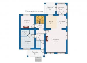 Каркасные дома  КС 2-212