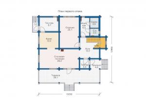 Каркасные дома  БС 2-228
