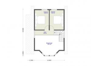 Каркасные дома  ПдС 2-90Ф
