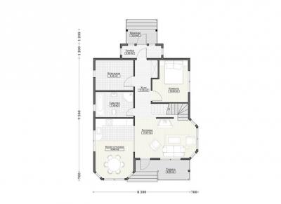 Каркасные дома  ПдС 10-52Ф