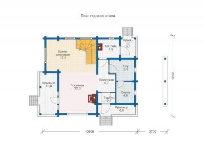 Каркасные дома  БС 2-132