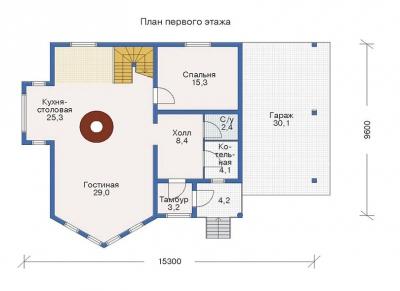ДОМ ИЗ БРЕВНА  БР 2-180